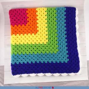 Crochet the Rainbow Granny Square Throw