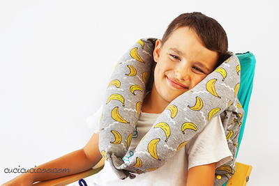 Make a Neck Pillow from a Sweatshirt