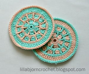 North Sea Mandala Crochet Coaster