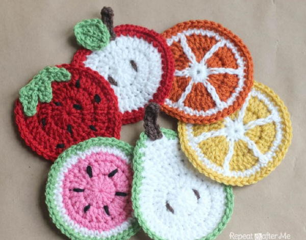 Fruit Medley Crochet Coasters