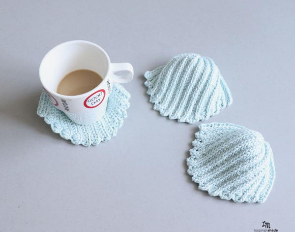 Seashell Coasters Crochet Pattern