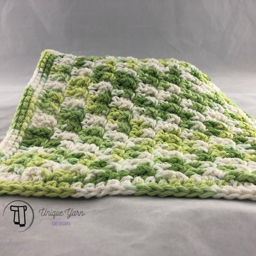 Textured Front Post Dishcloth