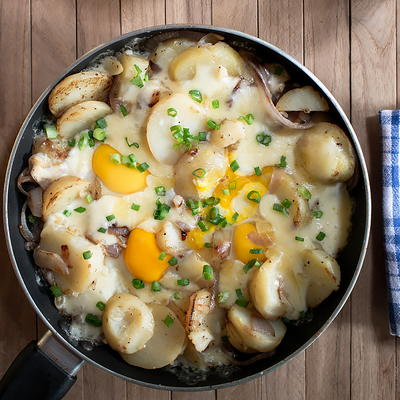 Egg Cheese and Potato SKillet