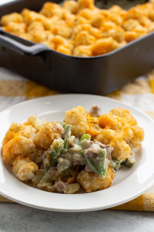Easy Slow Cooker Tater Tot Casserole | RecipeLion.com
