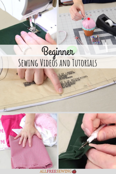 33 Beginner Sewing Videos and Tutorials