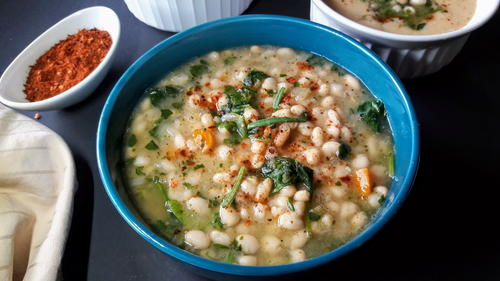 Creamy White Bean and Spinach Soup