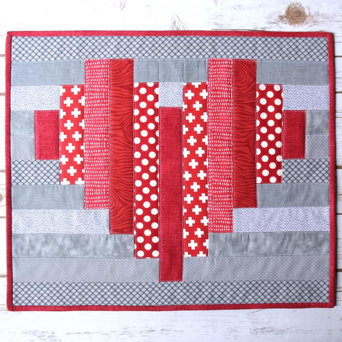 Striped Heart Mini Quilt