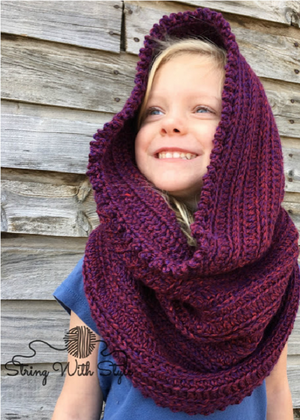 Sleigh Ride Hooded Infinity Scarf