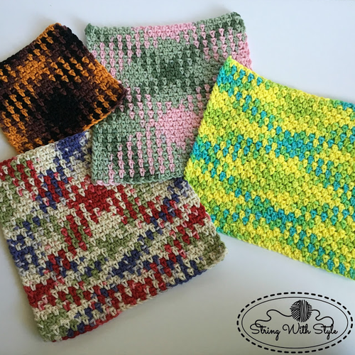 Planned Pooling Argyle Dishcloths