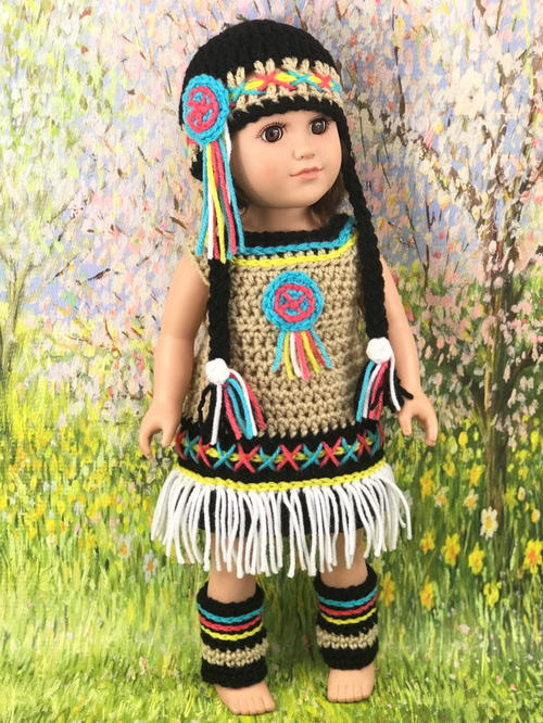 "18"" Native American Doll Dress"