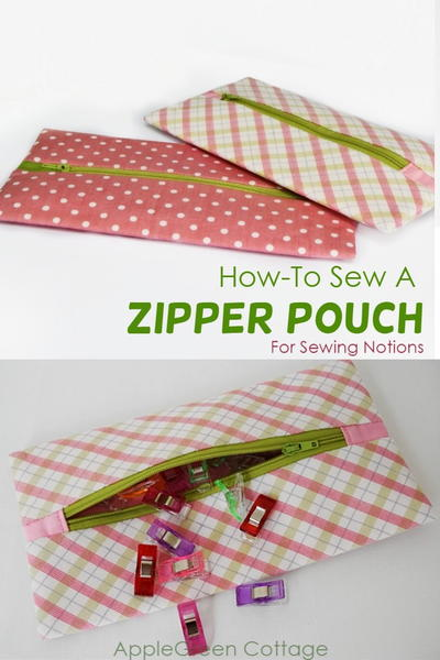 Cute Zipper Pouch For Sewing Notions