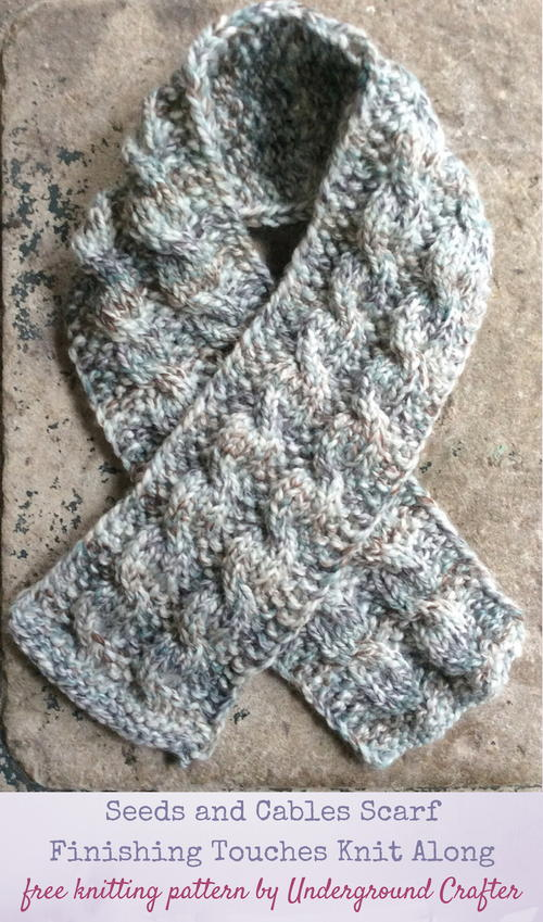 Seeds and Cables Scarf