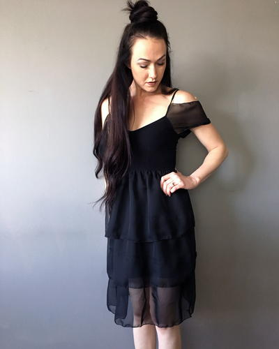 Upcycle A Chiffon Little Black Dress