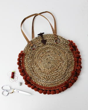 How To Make A Boho Round Purse From Placemats