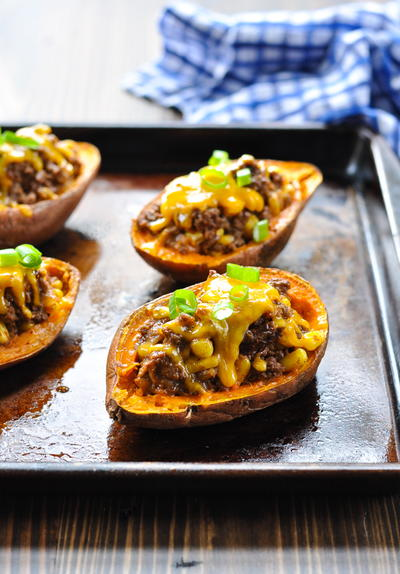 Taco Stuffed Potatoes
