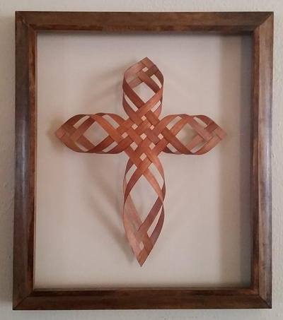 DIY Woven Wooden Cross Wall Hanging