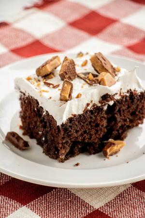 Caramel Heath Bar Cake