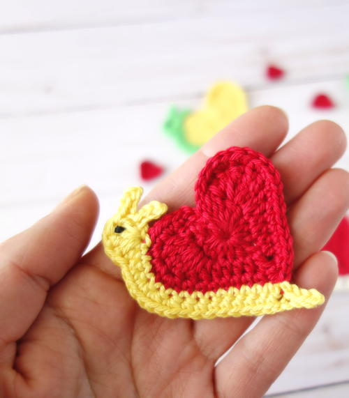 Valentine's Day Heart Snail