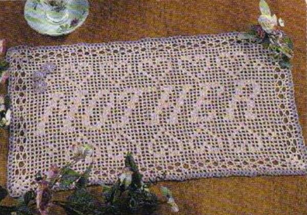 Mother's Day Crochet Runner