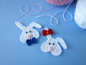 Somebunny Loves You! – Crochet Bunny Applique