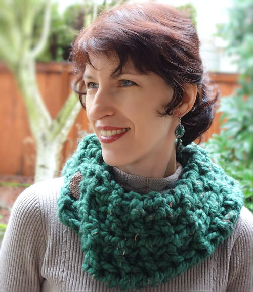 Northwest Forest Crochet Cowl