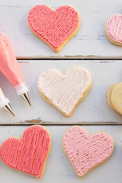 Valentines Day Heart Sugar Cookies