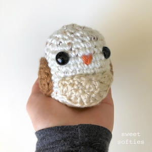 Owl Bean - Paperweight Stuffed Animal Doll