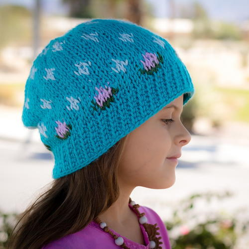 Spring Showers Beanie Crochet Pattern