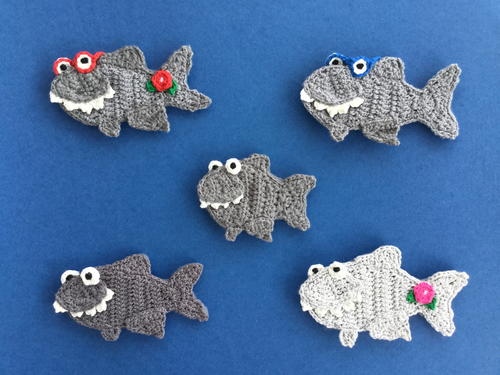 Crochet Shark Applique