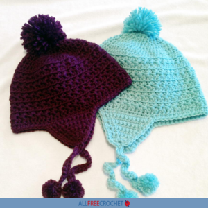 Star Stitch Earflap Hat Crochet Pattern