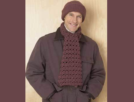 5643fce802d 9 Crochet Scarf Patterns Men will Love
