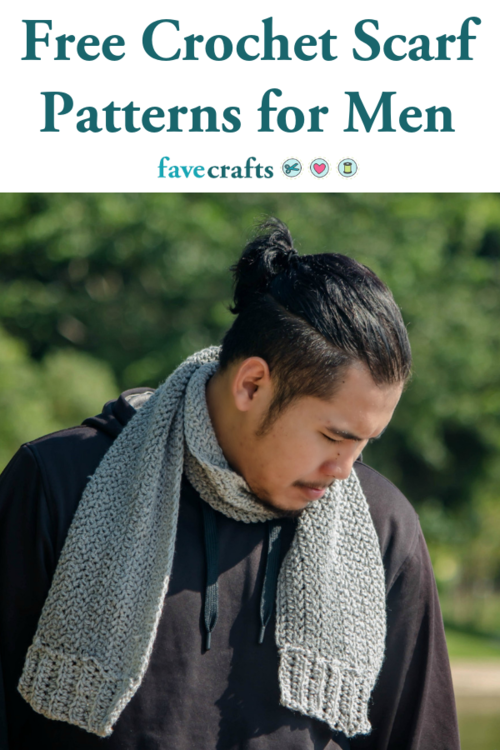 9 Crochet Scarf Patterns Men Will Love Favecraftscom