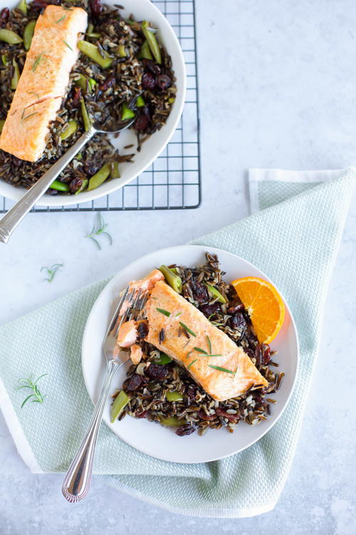 Baked Salmon with Black Rice