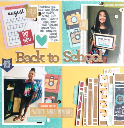 Back to School Scrapbook Page