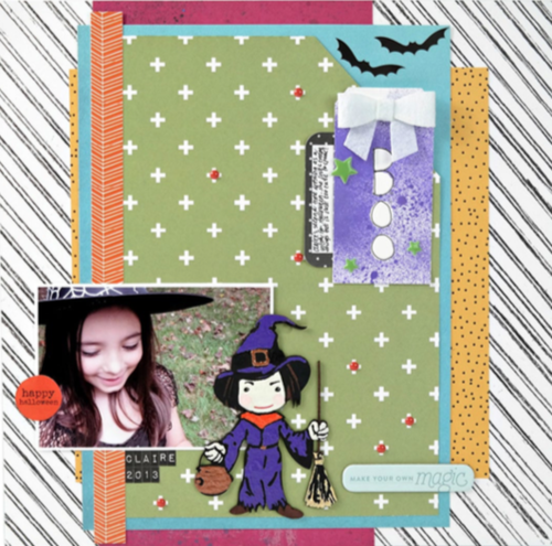 Boo Halloween Scrapbook Page