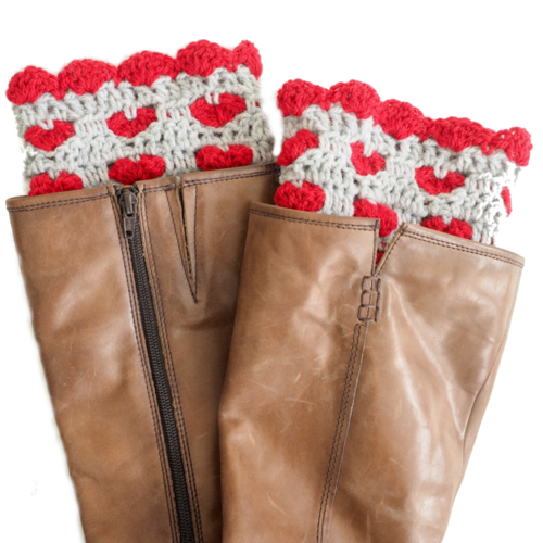 Sweetheart Boot Cuffs Crochet Pattern