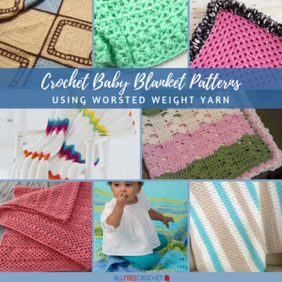 e937e5233 16 Crochet Baby Blanket Patterns Using Worsted Weight Yarn ...