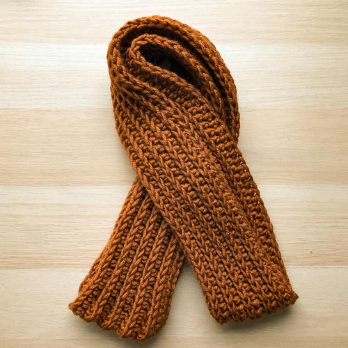 Entirely Easy Men's Crochet Scarf