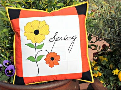 Bring on Spring DIY Throw Pillow Cover