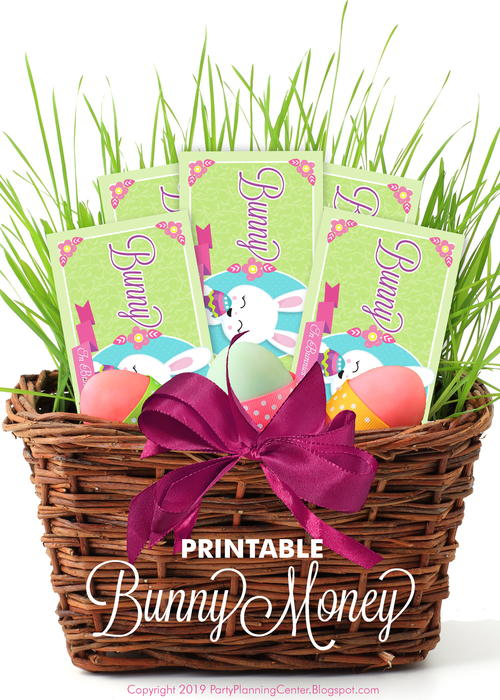 Printable Easter Bunny Money