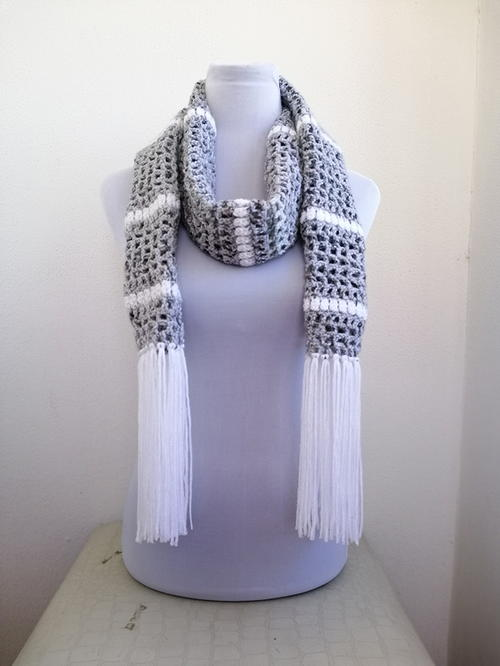 Snowy Day Crochet Scarf