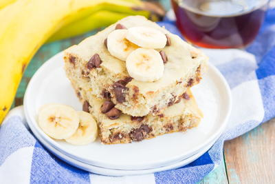 Banana Chocolate Chip Sheet Pan Pancakes