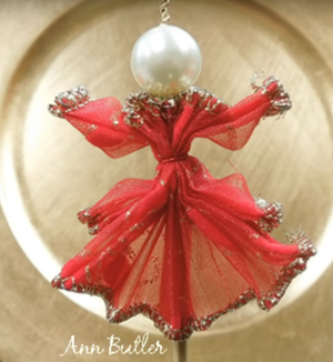 How to Make a Wire Ribbon Angel Ornament