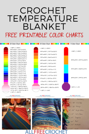 image relating to Free Printable Color Chart titled 3 Crochet Weather Blanket Charts (Free of charge Obtain