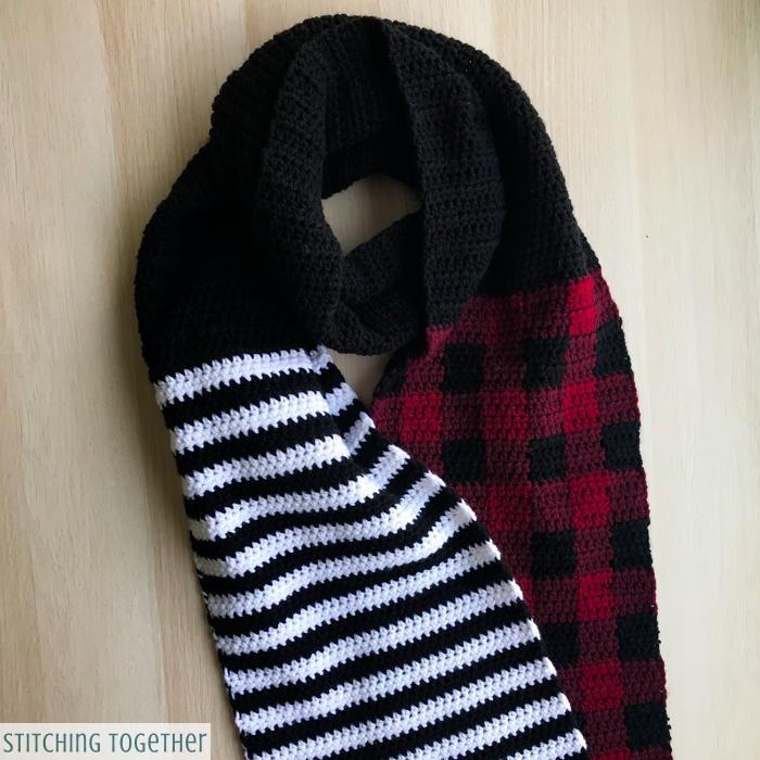 Stripes and Plaid Scarf