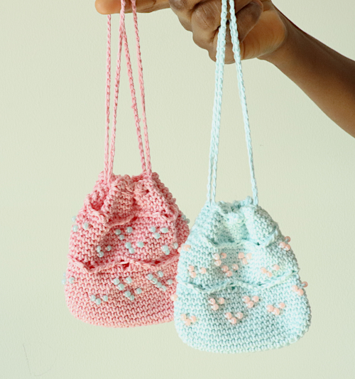 Beaded Mini Drawstring Pouch