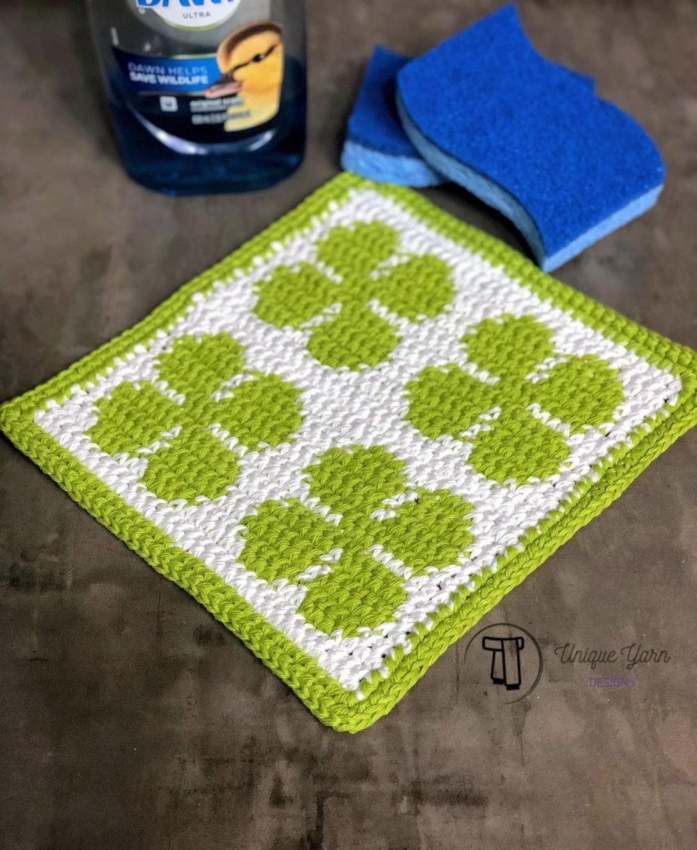 Four Leaf Clover Dishcloth