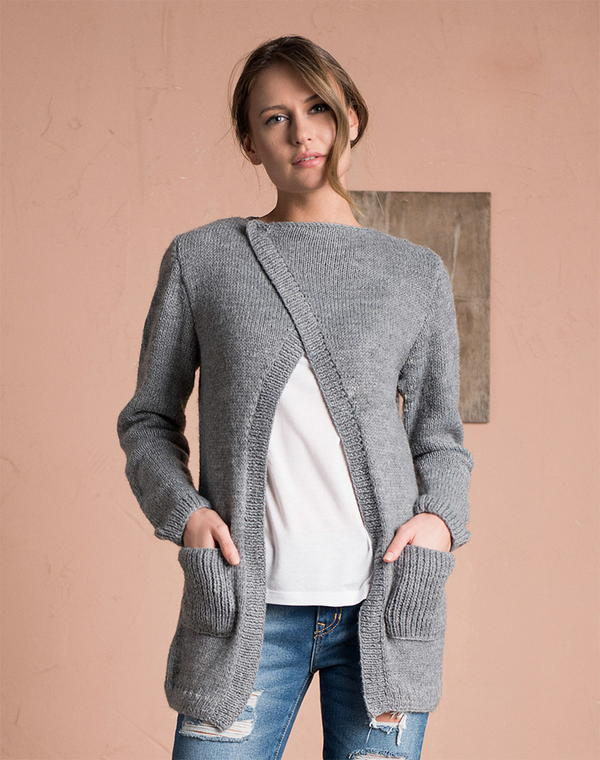 Free knit sweater patterns cardigan dress - how to button ...