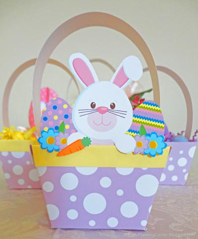 Printable Easter Basket and Bunny