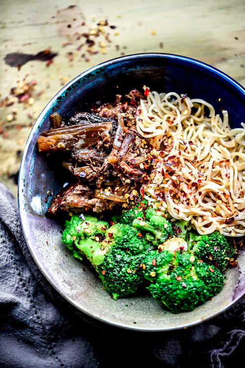Spicy Beef with Broccoli Ramen Noodles Recipe {Gluten-Free}